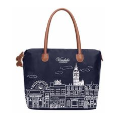 Vendula London Skyline Nylon Tote Bag - Navy Blue