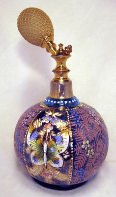 Antique Bohemian Perfume Scent Atomizer Bottle