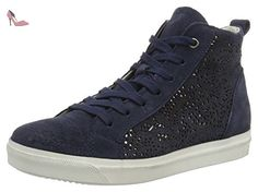 25206, Sneakers Hautes Femme, Bleu (Denim Antic 812), 37 EUMarco Tozzi