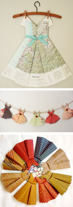 The Frocktober collection wouldn't be complete without these gorgeous paper dresses for day nineteen, from Cosy and Co in Christchurch, Crafty Hens in Wellington and Yarn and Paper in Taranaki.