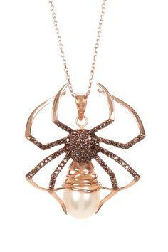 WHOA, Zsa Zsa Jewels Black Widow Pendant Necklace