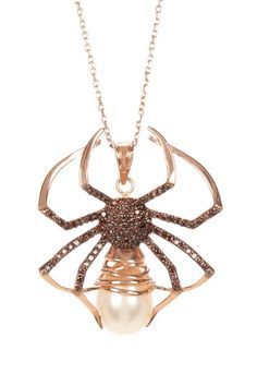 Black Widow Pendant Necklace by Zsa Zsa Jewels on @HauteLook
