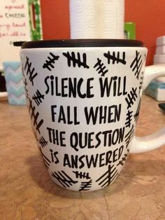 "Should actually be Asked. ""Silence will fall when the question is asked"""