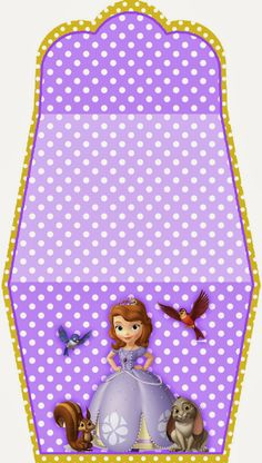 Sofia the First Free Printable Purse Invitations. There are directions on how to make this. It's really cute