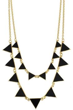 Shop Triangle-Shaped Pendant Necklace at ROMWE, discover more fashion styles online. Summer Essentials, Romwe, Triangle, Jewelry Accessories, Bling, Inspirational, Pendant Necklace, Jewels, Jewellery