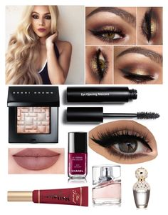 """Untitled #40"" by glamorkitty on Polyvore featuring beauty, Bobbi Brown Cosmetics, Too Faced Cosmetics, BOSS Hugo Boss, Marc Jacobs and Chanel"