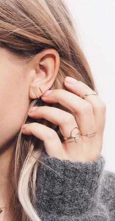 Jewels: gold jewelry minimalist jewelry gold ring stacked jewelry gold earrings