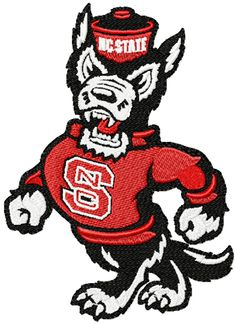 North Carolina State Wolfpack logo machine embroidery design