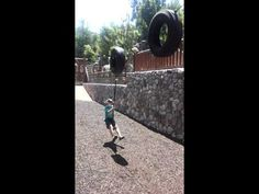 Parker Jax Ward on the Sequoia Smokejumpers Training Tower Disneyland Wi...
