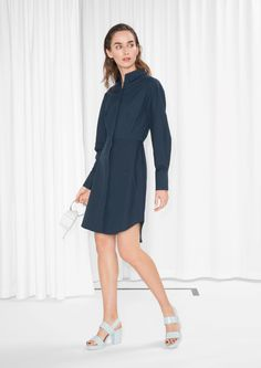 & Other Stories image 1 of Shirt Dress in Navy