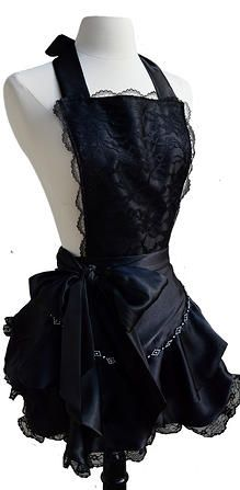 The Black Widow : Gothic Burlesq: Couture Fashion Aprons for Todays Modern Hostess | Fashion Aprons