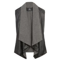 Tart Artois Reversible Vegan Leather Vest Soft, darker gray lining and black vegan leather outer. Can wear either way as shown. Both sides have slit pockets. New with tags! This is a true Medium. Tart  Jackets & Coats Vests