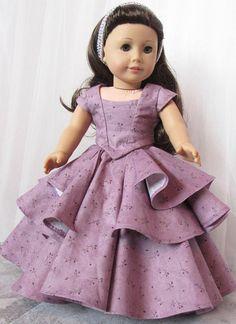 Bella Rose Ball Gown 18 American Doll Dress