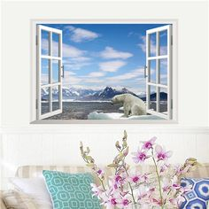 HomeSource Home Source 'Window to a Winter Wonderland' 19-inch x 27-inch Removable Wall Graphic