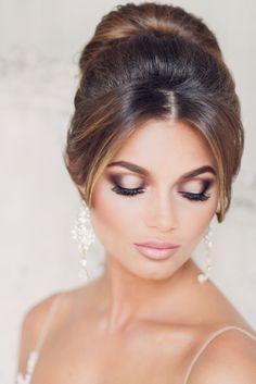 bridal makeup look Natural Wedding Makeup, Bridal Makeup Looks, Bridal Hair And Makeup, Hair Makeup, Make Up Looks, Bun Hairstyles, Wedding Hairstyles, Make Up Braut, Braut Make-up