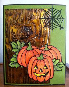 Pinterest Crafts Halloween | Halloween card using Elizabeth Craft Designs Peel Off stickers and ...