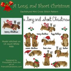 Dachshund A Long and Short Christmas Collection by PinoyStitch