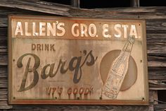 Barq's sign for my dinning room