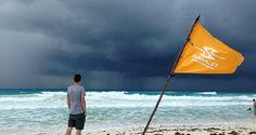 Unwetter am Strand von Cancun, Yucatan
