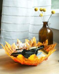 DIY Herbst Laub Schale