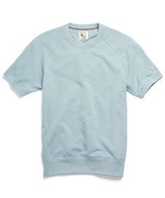 Short Sleeve Sweatshirt in Light Blue by Todd Snyder