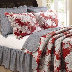 Red & Grey Bedding.