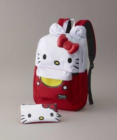 Girls Hello Kitty Backpack & Pencil Case Set - Your girl and her favorite friend can spend every day together. Hello Kitty Backpacks, Chasing Fireflies, Matching Family Pajamas, Brown Eyed Girls, Sanrio Hello Kitty, Girl Costumes, Your Girl, School Supplies, Girl Outfits