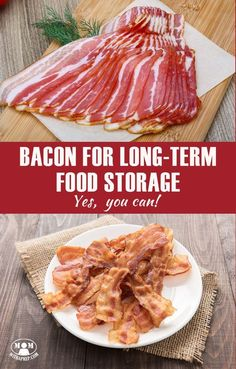Can I store bacon in the pantry? Can you really use bacon for long-term food storage? The answer is quite simple: yes you can! Here are the food storage options for bacon lovers . Prepper Food, Survival Food, Homestead Survival, Survival Prepping, Survival Skills, Survival Supplies, Survival Equipment, Canned Food Storage, Long Term Food Storage