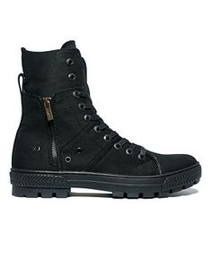 Levi's Canvas Sahara Hi-Top Boots - Shoes - Men - ●●● Emo Shoes, Mens Shoes Boots, Men's Shoes, Shoe Boots, Boots For Men, Best Hiking Shoes, Hiking Boots, Fashion Boots, Mens Fashion