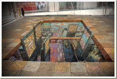 Pavament World İdeas 44 Amazing Julian Beever's Pavement Drawings, Check more at pavementideas. Chalk Artist, 3d Chalk Art, Art 3d, Art Village, 3d Sidewalk Art, 3d Street Art, Chalk Drawings, Art Google, Amazing Art