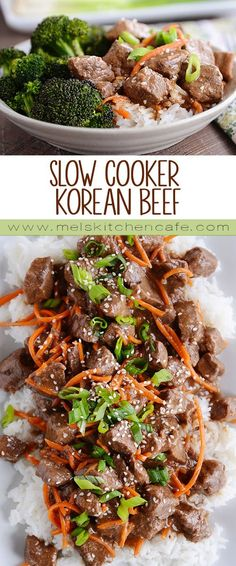 Such a versatile meal, this tender, delicious slow cooker Korean beef can also be made in the Instant Pot (or other pressure cooker). The flavor is out of this world delicious!