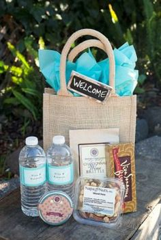 Filled with Napa and Sonoma Products! Wedding Gift Bags, Wedding Gifts For Guests, Wedding Favors, Sonoma Wine Country, Guest Gifts, Welcome Bags, Jute Bags, Cabo, Destination Wedding