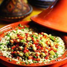 Okra & Chickpea Tagine - EatingWell.com