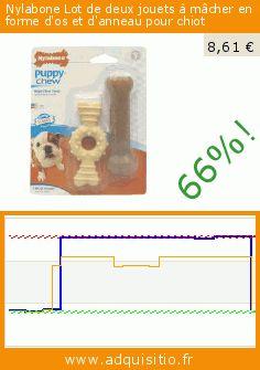 Nylabone Lot de deux jouets à mâcher en forme d'os et d'anneau pour chiot (Divers). Réduction de 66%! Prix actuel 8,61 €, l'ancien prix était de 25,50 €. https://www.adquisitio.fr/nylabone/lot-deux-jouets-m%C3%A2cher