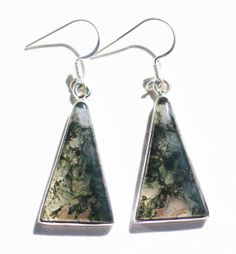Metaphysical Gifts, Cards, Wrap and Crystals | Life Is A Gift Shop - Translucent Moss Agate Triangular Earrings for Mysticism that goes beyond mere wealth., $58.00 (http://lifeisagiftshop.com/translucent-moss-agate-triangular-earrings-for-mysticism-that-goes-beyond-mere-wealth/)