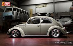 Seasand Beige 1966 VW Beetle | VolksWorld Magazine  BODY: Stock 1965 Beetle, L568 Seasand INTERIOR: Stock '67 Beetle seats, custom re-trimmed tweed door panels ENGINE: AB code 1600 twin port; ported and polished stock VW heads, Scat C25 cam; full-flow oiling; Weber 40IDFs WHEELS & TYRES: EMPI Race Trim alloys, 4 x 15 and 6.5 x 15 with145/65 and 185/65 tyres SUSPENSION: JK 4-inch narrowed beam; dropped spindles; adjustable spring plates; Bugpack / Mini shocks; 2 outer spline drop