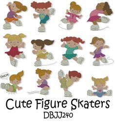 Embroidery Designs | Free Machine Embroidery Designs | JuJu Figure Skaters