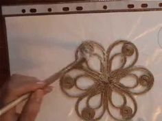 How To Make A Simple Decorative Twine Fl - maallure Twine Flowers, Diy Flowers, Fabric Flowers, Flower Diy, Hobbies And Crafts, Diy And Crafts, Twine Crafts, Fleurs Diy, Rope Art