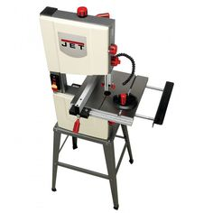 "Introducing the all new JET® B3NCH 10"" Band Saw. If space is at a premium in your shop or on the job, bring this bandsaw along to tackle your toughest jobs. With quick release blade tension, upper and lower ball bearing blade guides, an extra-large cast iron tilting table, and an easily adjustable LED work light - this precision bandsaw has all the features you're used to on bigger bandsaws, in a powerful, mobile package."