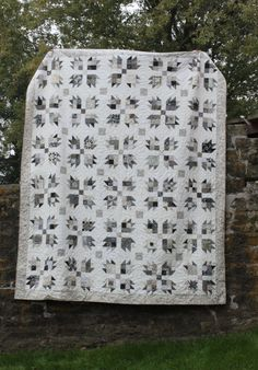front of scrappy bear paw quilt