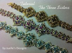Tutorial for The Three Sisters Bracelet by JuellesDesigns on Etsy, $15.00