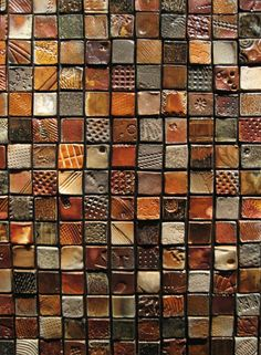 textured ceramic tiles by Gary Jackson : Fire When Ready Pottery Ceramic Tile Art, Clay Tiles, Ceramic Clay, Ceramic Pottery, Inchies, Sculptures Céramiques, Tile Projects, Alien Art, Collaborative Art