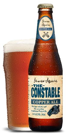 The Constable Copper Ale - James Squire Craft Beer. 3 of these will fill my pint glass with lovely beer twice. Beer Types, Beer Specials, Malt Beer, Beer Label Design, Premium Beer, Beer Art, Beer Brands, Beer Packaging, Brew Pub
