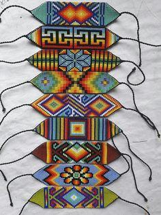 Loom Beading, Beading Patterns, Bargello Needlepoint, Bead Jewellery, Jewelry, Bead Loom Bracelets, Native American Beading, Micro Macrame, Sprays