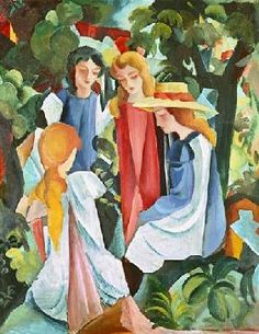 August Macke - Four girls