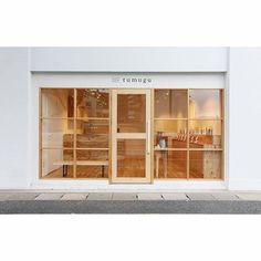 Cafe Shop Design, Coffee Shop Interior Design, Showroom Interior Design, Small Cafe Design, Shop Front Design, Facade Design, Exterior Design, Tienda Natural, Cafe Japan