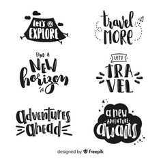 Discover thousands of free-copyright vectors on Freepik Vintage Typography, Typography Quotes, Vintage Fonts, Graphics Vintage, Vector Graphics, Travel Fonts, Hand Lettering Alphabet, Cursive Fonts, Digital Media