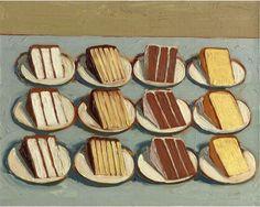 "Wayne Thiebaud | ""Cut Cakes"" | 1961"