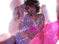 Daydreamer Iridescent Paillette Skirt & Top and Let's Be Clear Crossbody Bag #nastygal #editorial