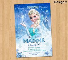 Elsa Frozen Invitation Frozen Birthday by KidsPartyPrintables